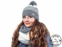 Ladies Winter Set - Hat with Pom Pom and Snood