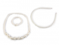 Girls Pearl Set  - Necklace, Bracelet and Headband