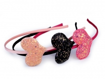 Headband with Glitter Heart, Star