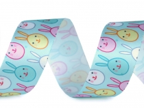 Easter Satin Ribbon width 24 mm Bunny