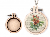 Mini Embroidery Hoops Necklace Brooch Oval, Hoop